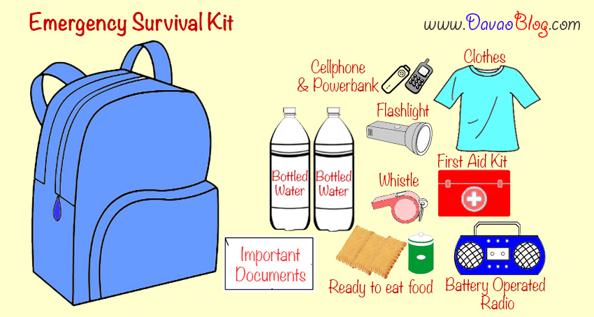Emergency Survival Kit List, Emergency Bag